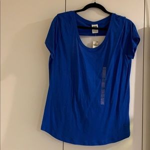 Victoria's Secret Tops - Victoria Secret blue open back t-shirt